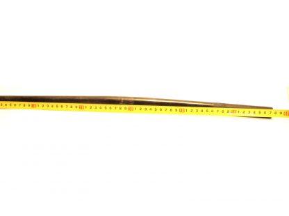 Musta 25,4mm 58cm teräs ohjaustanko